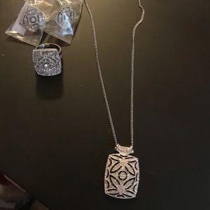 Belle luce JTV necklace ring earring set